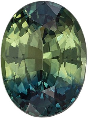 Hard to Find GIA Certified Unheated Sapphire Gemstone 1.34 carats, Oval Cut, Blue Green Mix, 7.68 x 5.69 x 3.65 mm