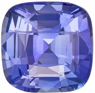 Super Fine 1.35 carats Blue Sapphire Cushion Genuine Gemstone, 6.1 x 6 mm