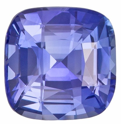 Loose Genuine Blue Sapphire Gemstone, 1.35 carats, Cushion Shape, 6.1 x 6 mm, Hard to Find Gem