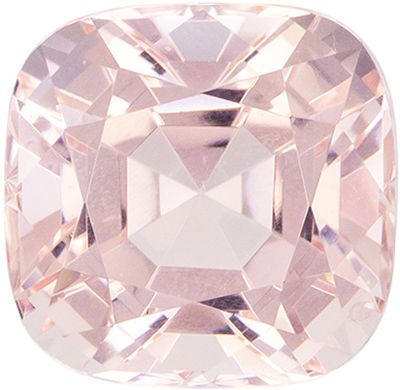 Very Special 1.35 carats Pink Morganite Cushion Genuine Gemstone, 6.5 x 6.4 mm