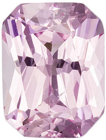 1.36 carats Pink Sapphire Loose Gemstone in Radiant Cut, Light Baby Pink, 7.3 x 5.5 mm