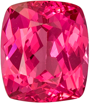 Natural Loose 1.38 carats Pink Spinel Cushion Genuine Gemstone, 6.8 x 5.9 mm