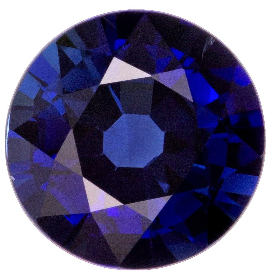 Natural Blue Sapphire Gemstone, Round Cut, 1.39 carats, 6.7 mm , AfricaGems Certified - A Great Buy