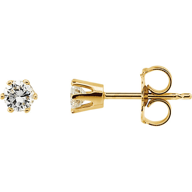 Perfect Jewelry Gift 0.25 Carat Total Weight Diamond Post Stud Earrings
