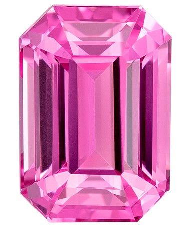 Faceted Pink Spinel Gemstone, 1.4 carats, Emerald Cut, 7.3 x 5.1 mm, Great Deal on This Gem