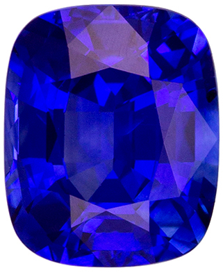 Stunning 1.44 carats Blue Sapphire Cushion Genuine Gemstone, 7 x 5.7 mm