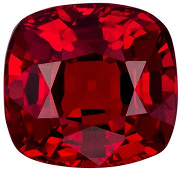 Beautiful 1.44 carats Red Spinel Cushion Genuine Gemstone, 6.3 x 6.2 mm