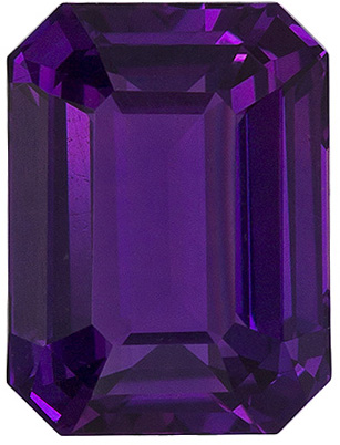1.48 carats - GIA Certified Rare No Heat Purple Sapphire in Emerald Cut in Intense Purple, 7.2 x 5.4 mm