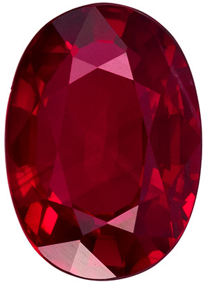 1.49 carats Ruby Loose Gemstone in Oval Cut, Vivid Red, 7.9 x 5.6 mm