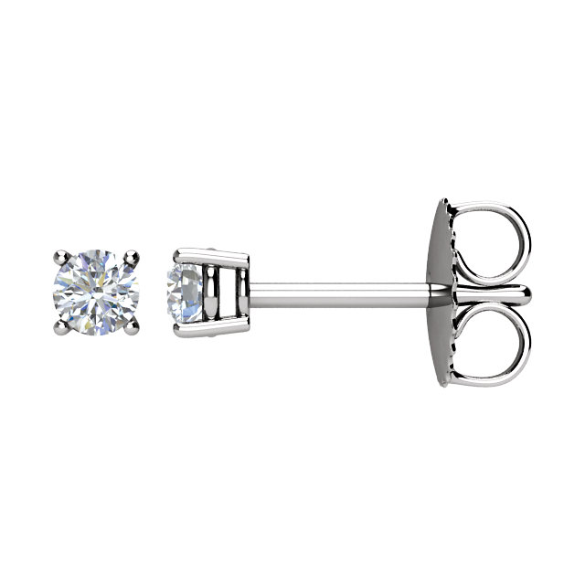 Great Deal in 14 Karat White Gold 0.20 Carat Total Weight Diamond FriCaration Post Stud Earring