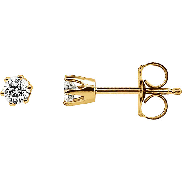 Contemporary 0.20 Carat Total Weight Diamond Post Stud Earrings