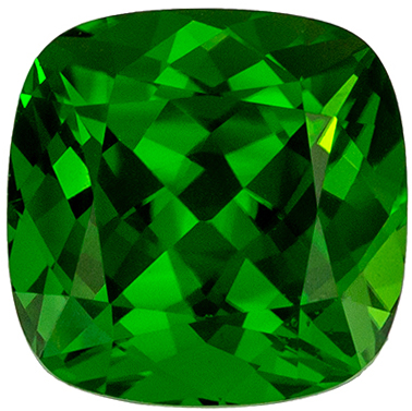 Glamourous 1.5 carats Chrome Tourmaline Cushion Genuine Gemstone, 6.7 mm