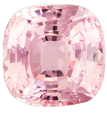 Natural Padparadscha Gemstone GIA Certified No Heat Gemstone 1.50 carats, Cushion Cut, 6.12 mm