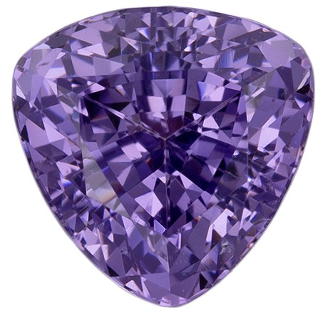 Must See Purple Spinel Loose Stone, 1.5 carats, Trillion Cut, 6.6 mm , Great Deal on This Gem