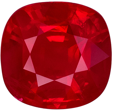Gorgeous GIA Certified Ruby Quality Gem, 1.5 carats, Rich Blood Red, Cushion Cut, 7.07 x 6.89 x 3.72 mm