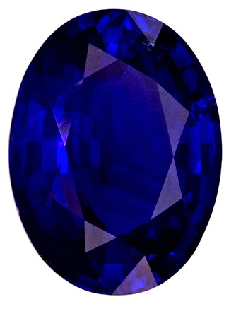 Super Gorgeous Vivid Blue Color in 1.51 Carat Blue Sapphire Oval Gemstone in 7.9 x 6.0 Calibrated Size