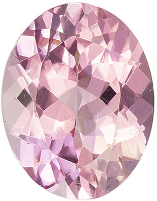 Loose 1.51 carat Pink Tourmaline Gemstone in Oval Cut 8.4 x 6.5 mm