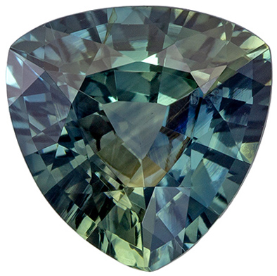 Blue Green Sapphire GIA Unheated in 1.52 carat, Fiery Gem in Unique Color in 7.4mm Size