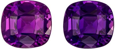Color Shift Rare 1.52 carats Purple Sapphire Cushion Cut GIA Gemstone, 6.58 x 6.32 x 4.15 mm