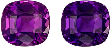 Popular No Heat 1.52 carats Color Shift Purple to Pink Purple Sapphire Cushion Genuine Gemstone, 6.58 x 6.32 x 4.15 mm