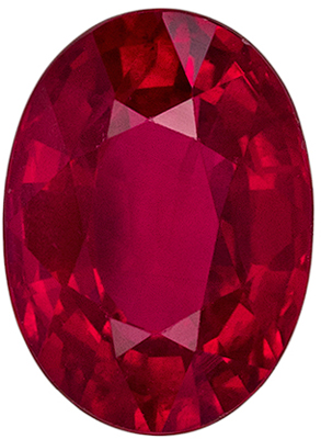 Very Pleasing Ruby Loose Gem, 1.52 carats, Open Rich Red, Oval Cut, 7.7 x 5.6mm