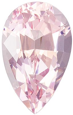 So Pretty 1.53 carats Pink Morganite Pear Genuine Gemstone, 9.7 x 6.1 mm