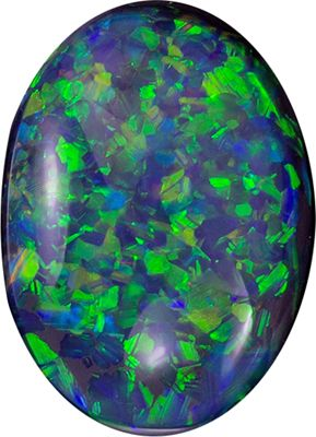Super Fine 1.54 carats Black Opal Oval Genuine Gemstone, 9.2 x 6.6 mm