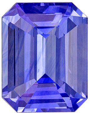 Very Special 1.54 carats Blue Sapphire Emerald Genuine Gemstone, 7.3 x 5.7 mm