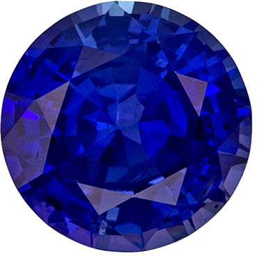 Beautiful 1.54 carats Blue Sapphire Round Genuine Gemstone, 6.97 x 7.01 x 4.12 mm - GIA Certified