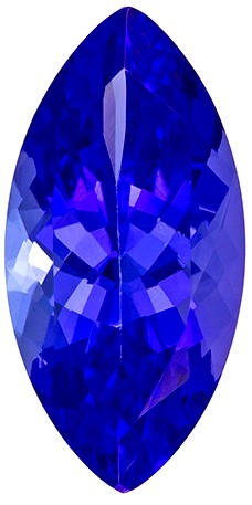 1.54 carats Tanzanite Loose Gemstone in Marquise Cut, Vivid Blue Purple, 11 x 5.4 mm