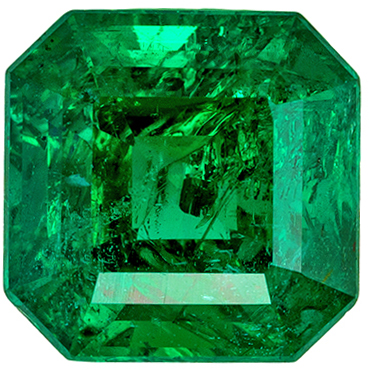 Super Emerald Genuine Gem 1.54 carats, Emerald Cut, Vivid Rich Green, 7 mm
