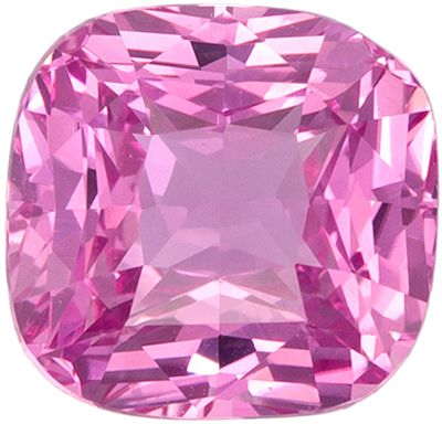 Fine Quality 1.54 carats Pink Sapphire Cushion Genuine Gemstone, 6.47 x 6.24 x 4.17 mm