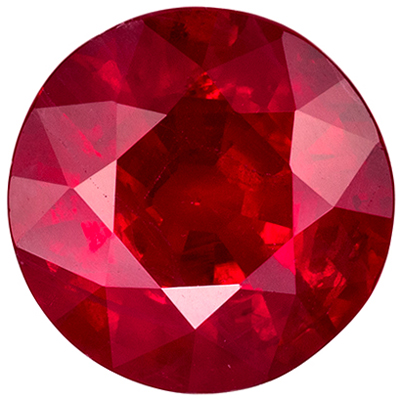 Bright & Lively Ruby Quality Gem, 1.54 carats, Open Rich Red, Round Cut, 7 mm