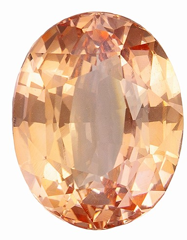 GIA Striking Natural Peach No Heat Sapphire Gemstone 1.55 carats, Oval Cut, 7.69 x 6.06 x 3.79 mm