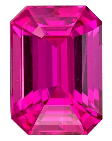 Loose Pink Sapphire Gemstone, 1.56 carats, Emerald Cut, 7.3 x 5.2 mm, A Low Price