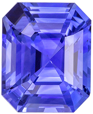 Lovely Sapphire Loose Gem, 7 x 5.9mm, Rich Cornflower Blue, Emerald Cut, 1.57 carats