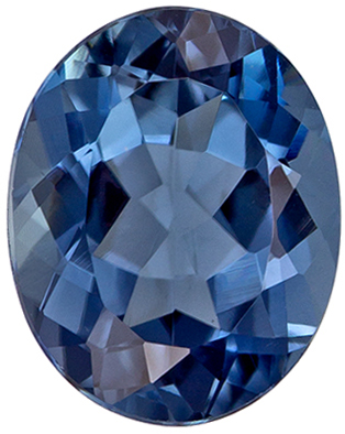 Faceted 1.57 carat Blue Tourmaline Gemstone in Oval Cut 8.2 x 6.5 mm