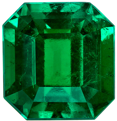 Absolute Gem Emerald - Impressive Crystal Stone, 1.57 carats in 7.2 x 6.9 mm Size