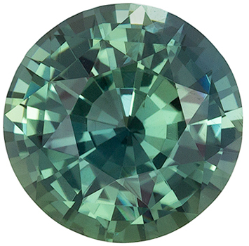 Bright & Lively Round Shape Blue Green Sapphire Loose Gem, 1.58 carats, Open Teal Blue Green Color, 6.97 x 7.04 x 4.31 mm, GIA Certified