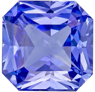 Natural Loose 1.58 carats Blue Sapphire Radiant Genuine Gemstone, 6.5 x 6.4 mm