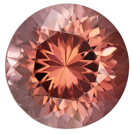 Faceted Brown Zircon Gemstone, 1.58 carats, Round Cut, 6.4 mm, Low Low Price