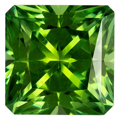 1.58 carats Green Tourmaline Loose Gemstone in Radiant Cut, Mint Green, 6.7 mm