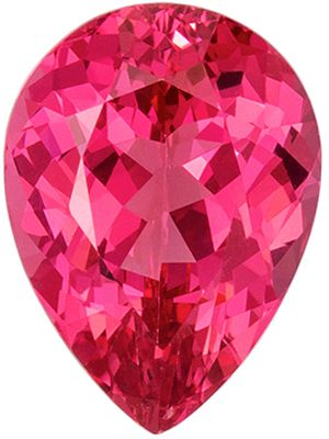 Stunning 1.58 carats Pink Spinel Pear Genuine Gemstone, 8.6 x 6.3 mm