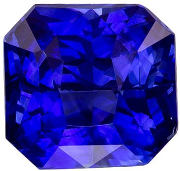 Beautiful 1.59 carats Blue Sapphire Radiant Genuine Gemstone, 6.2 x 5.9 mm