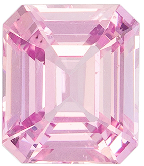 Popular Ring Stone in Delicate Pink 1.59 carat Sapphire, Emerald Cut No Heat with GIA