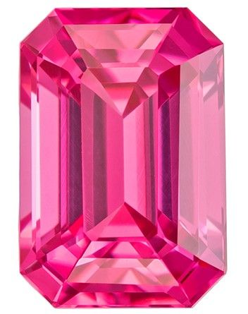 Selected Pink Spinel Gemstone, 1.6 carats, Emerald Cut, 7.7 x 5.3 mm, Must See This Gem