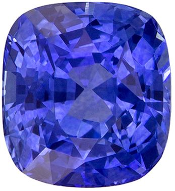 Natural Loose 1.61 carats Blue Sapphire Cushion Genuine Gemstone, 6.5 x 5.9 mm