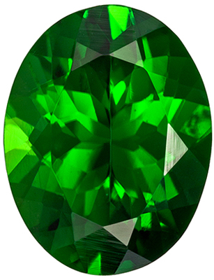 Excellent Tourmaline Loose Gem, 8.8 x 6.8mm, Rich Grass Green, Oval Cut, 1.62 carats