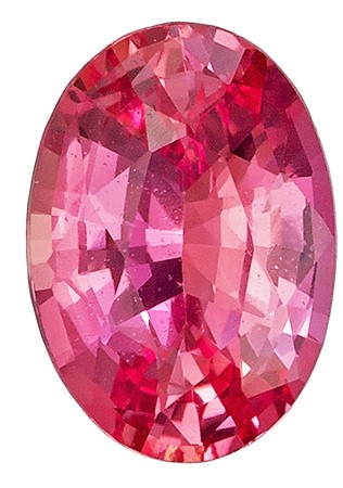 Natural Striking GIA No Heat Padparadscha Sapphire Gemstone 1.62 carats, Oval Cut, 8.63 x 6.07 x 3.87 mm