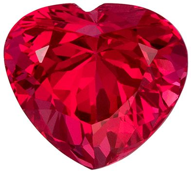 Must See 1.62 carats Pink Spinel Heart Genuine Gemstone, 7.1 x 6.5 mm